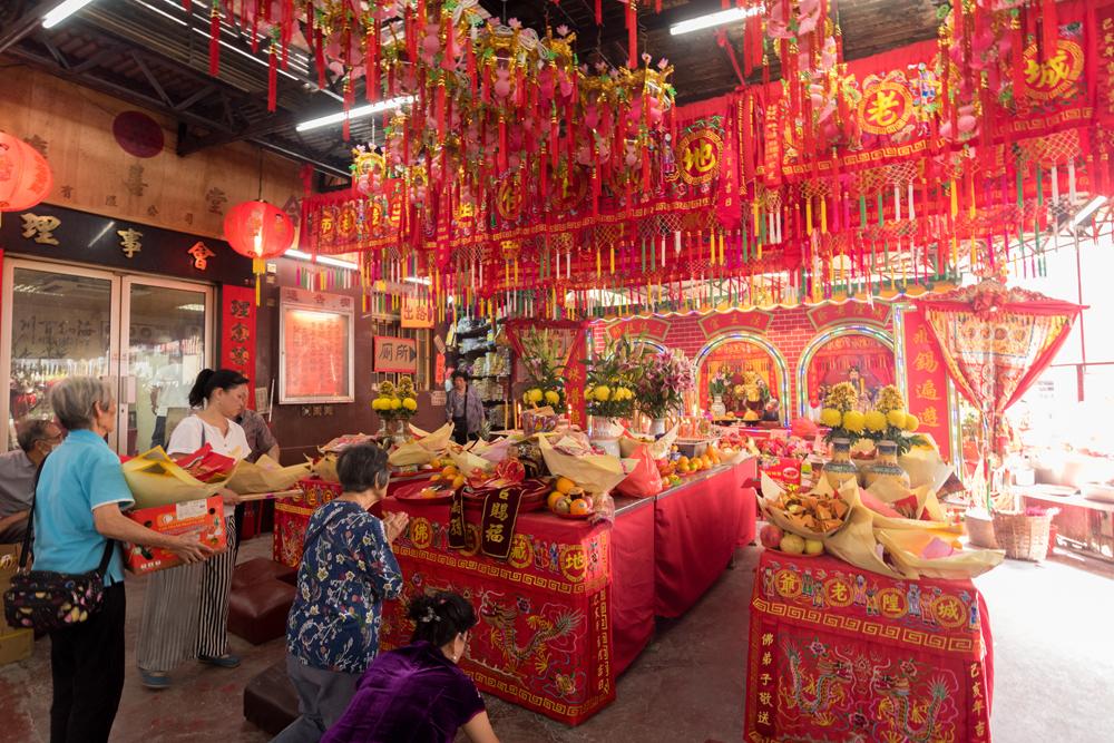 觀塘地藏王古廟酬神