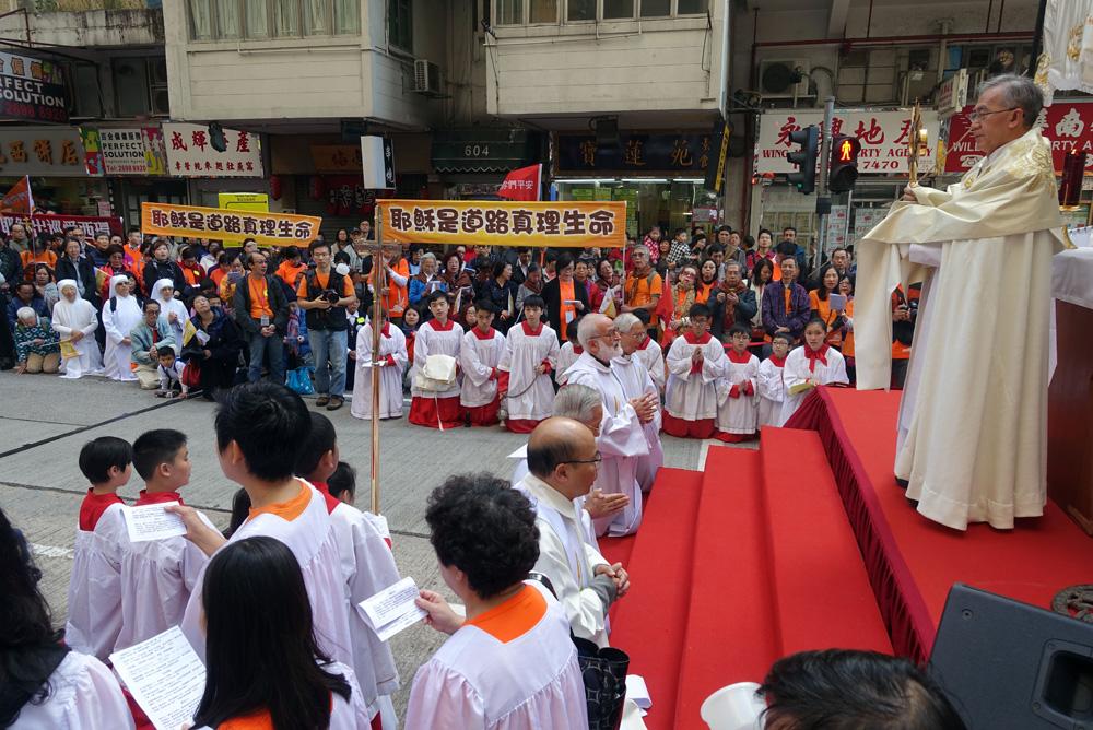 每年不少宗教團體舉行儀式,可見香港對不同宗教的包容。