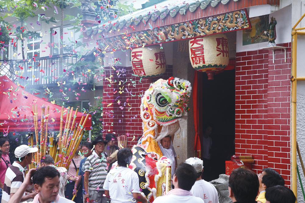 鹿洲天后誕在農曆五月初一,島上的天后廟十分熱鬧。
