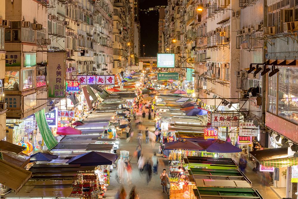 喧鬧多姿的平民天堂:油尖旺的小販街市