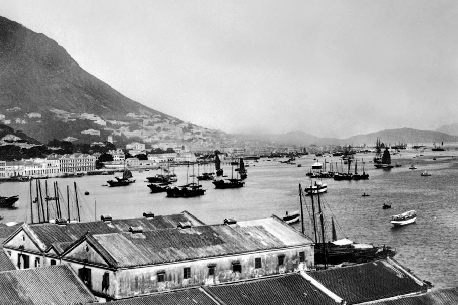 1880年代灣仔海旁的貨倉。