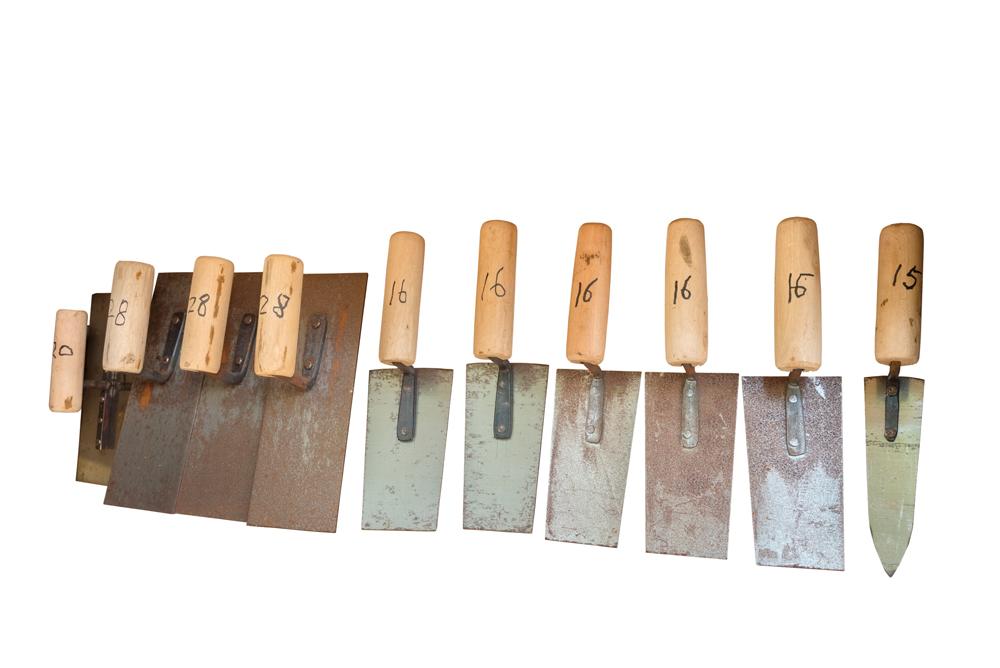 傳統的泥水工具始終不變。
