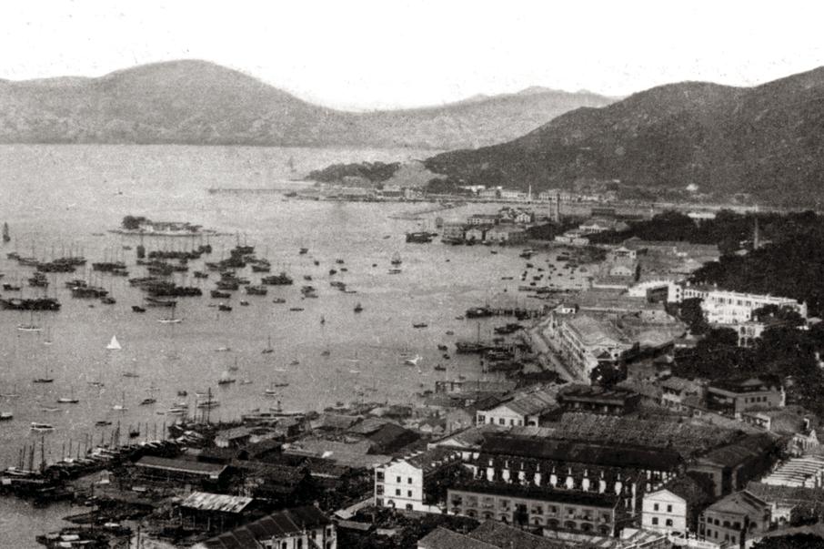 1910年代的灣仔海旁,當時尚未展開填海計劃。