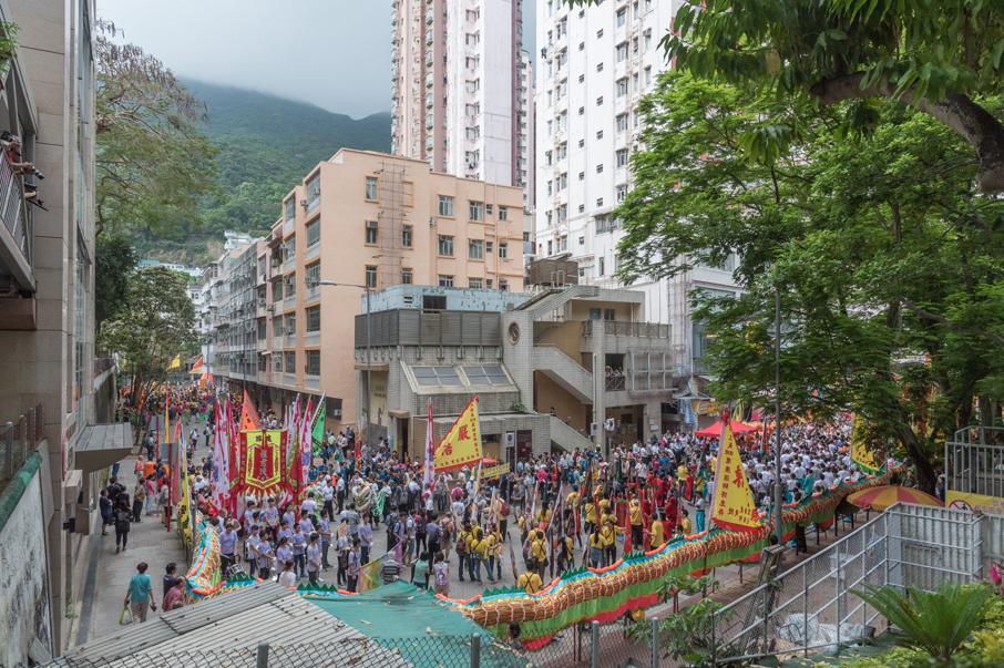 每年一度的筲箕灣譚公誕是社區內不同武術門派聚首一堂的好機會。